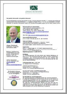 Erstinformation Versicherungsmakler Jürgen Weinhardt