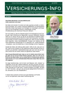 JW-Finanz Versicherungsinfo 07.2018
