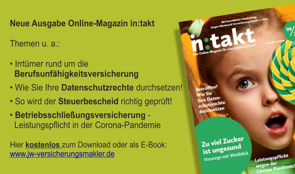 JW Kundenmagazin in:takt